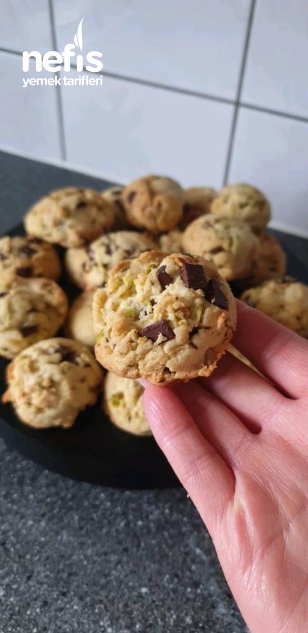 Çikolatalı Fıstıklı Cookie