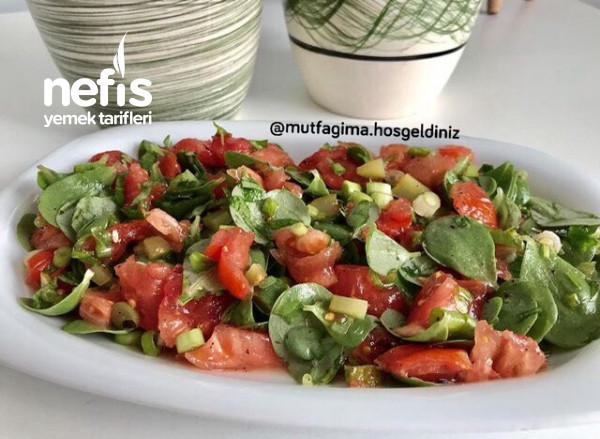 Ekşili Semizotu Salatası