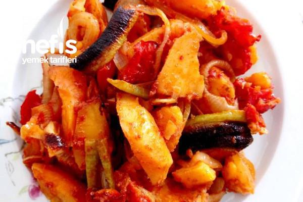 Fırında Patates Yemeği (Etsiz)