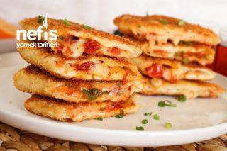 Kahvaltılık Pizza Tadında Börek (Videolu) Tarifi