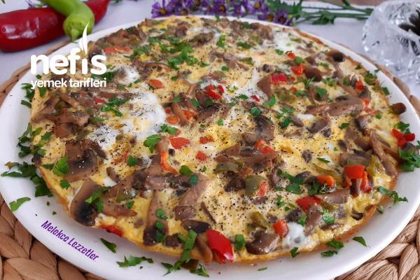 Mantarlı Biberli Omlet (Kahvaltıya Sahura)