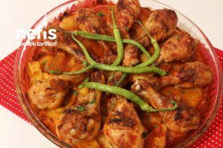 Nefis Sosuyla Fırında Sebzeli Tavuk Baget Tarifi