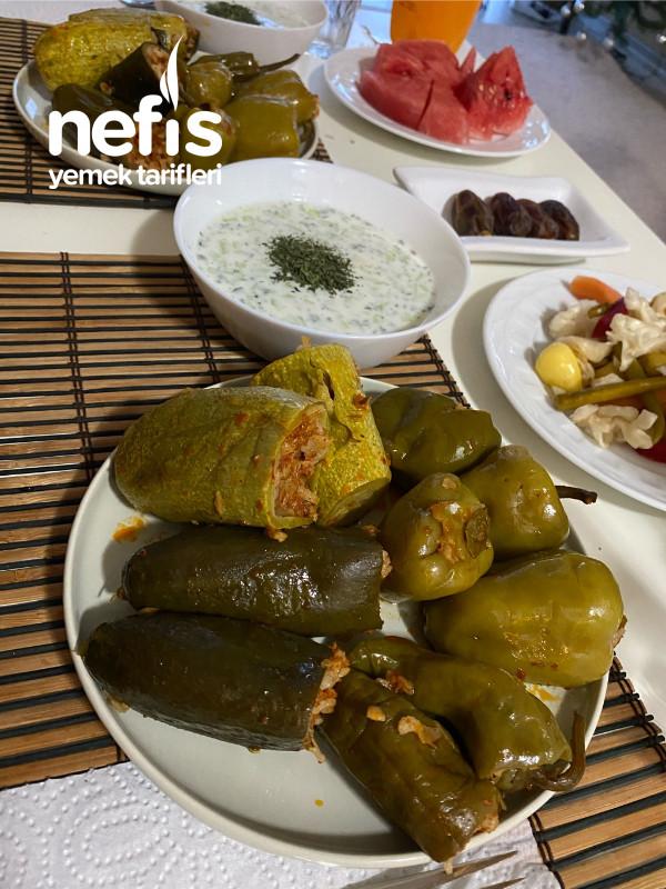 Taze Dolma(Salatalık, Biber, Kabak)