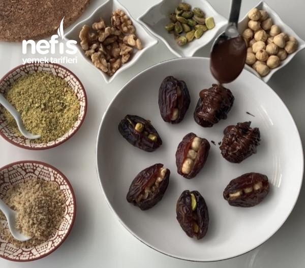 Çikolatalı Hurma (Fındık, Fıstık Ve Cevizli)