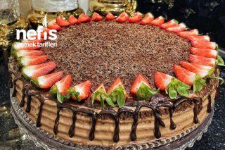 Çilekli Çikolatalı Yaş Pasta Tarifi