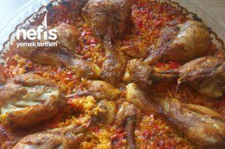 Fırında Bulgurlu Tavuk Kapama Tarifi