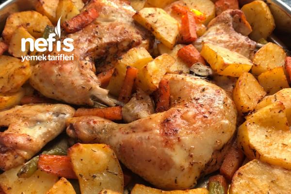 Fırında Patatesli Tavuk But