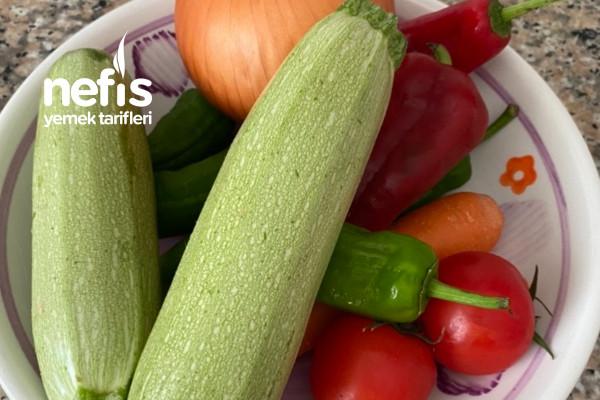 Kızartmadan Fırında Karışık Sebze Yemeği