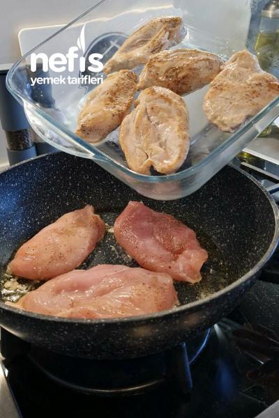 Kremalı patatesli tavuk ğöğsü