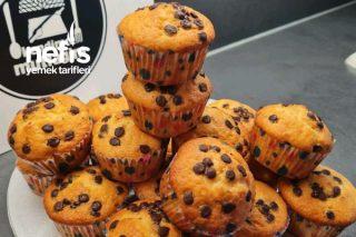 Muzlu Pudingli Damla Çikolatalı Muffin Tarifi