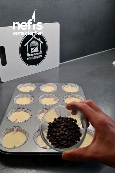 Muzlu Pudingli Damla Çikolatalı Muffinmalzemeler