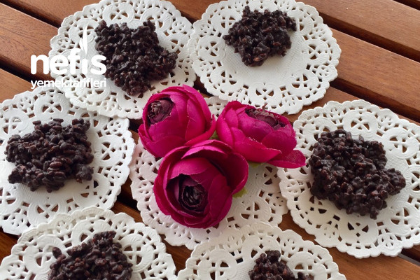 Sağlıklı Atıştırmalık Çikolatalı Bulgur Patlağı Sadece 2 Malzemeli