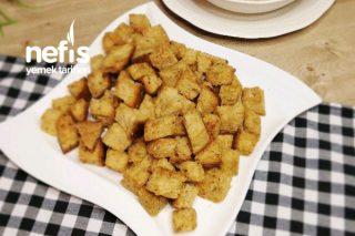Fırında Baharatlı Kruton (Kıtır Ekmek) Tarifi