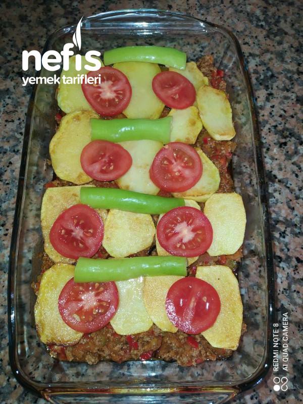 Patlıcan Ve Patatesli Oturtma
