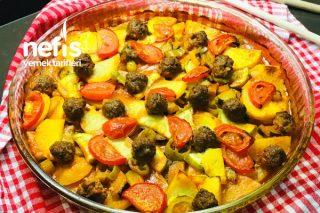 Fırında Köfteli Sebze Yemeği (Çok Pratik) Tarifi