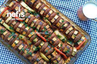 Fırında Patlıcan Dizme Kebabı Tarifi