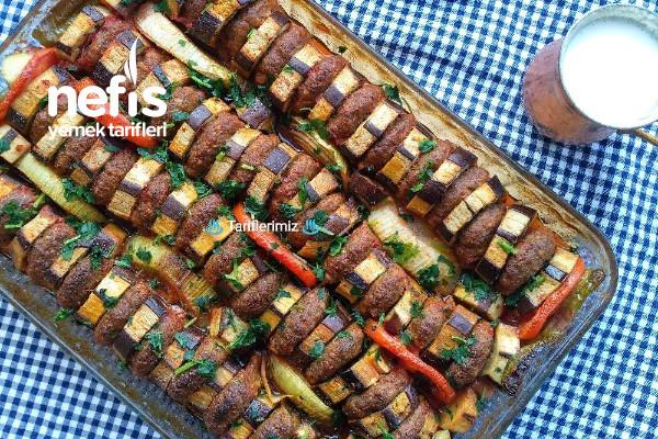 Fırında Patlıcan Dizme Kebabı