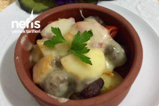 Fırında Sebzeli Kaşarlı Minik Köfteler ( Kızartmadan) Tarifi