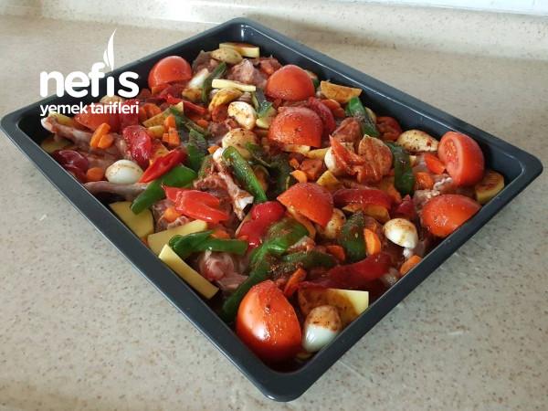 Fırında Sebzeli Taleks (Tavuk Pirzola)