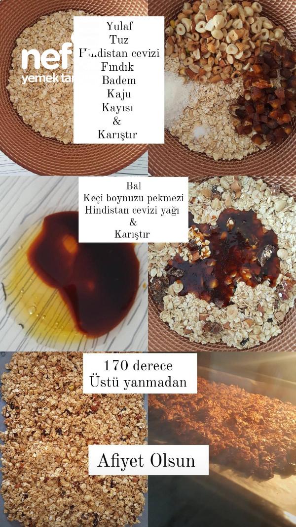 Granola Bar ( Kahve Yanına Enfes Bir Tad )