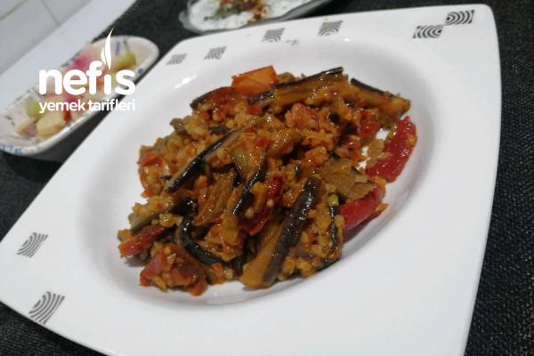 Kuru Patlıcan Yemeği (Miss Gibi Geleneksel Miss Gibi Anne, Büyükanne)