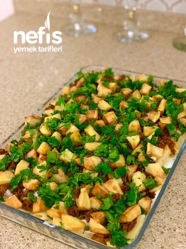 Yoğurtlu Kıymalı Patatesli Makarna