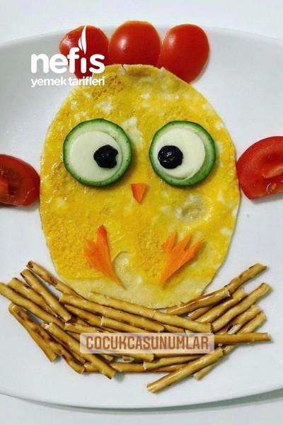 Civciv Omlet (Eğlenceli Tabaklar – Çocuk Sunumları)