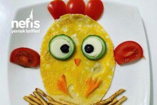 Civciv Omlet (Eğlenceli Tabaklar - Çocuk Sunumları) Tarifi