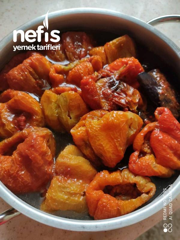 Kuru Patlıcan, Biber Dolması (Gaziantep Usulü)