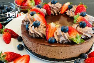 Pişmeyen Çikolatalı Cheesecake (Aşırı Lezzetli Ve Kolay) Tarifi