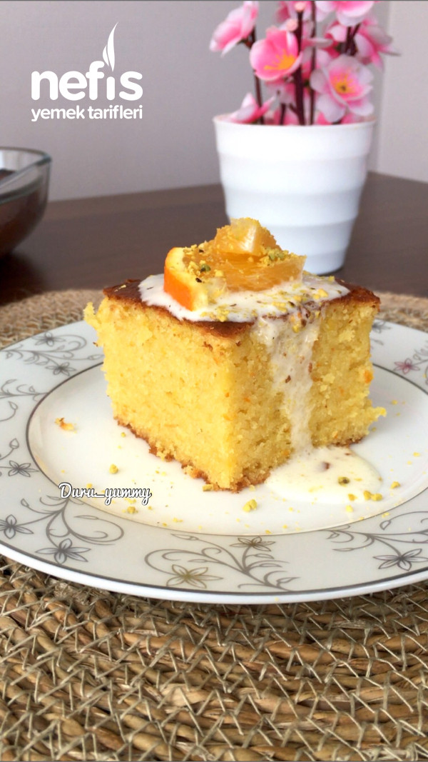 Portakallı Nemli Kek