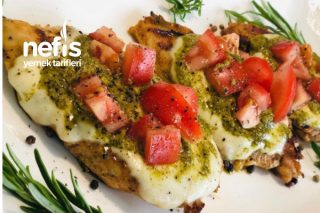 Harika Bir Lezzet Pesto Soslu Mozzerellalı Tavuk Tarifi