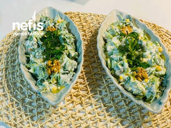 Yoğurtlu semiz otlu cacik(kuru cacık)