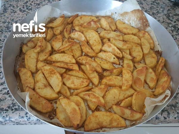 Fırında Baharatlı Çıtır Elma Dilim Patates