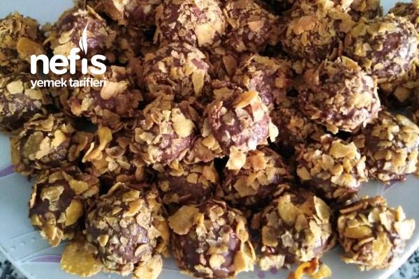 Mısır Gevrekli Çikolatalı Kurabiye