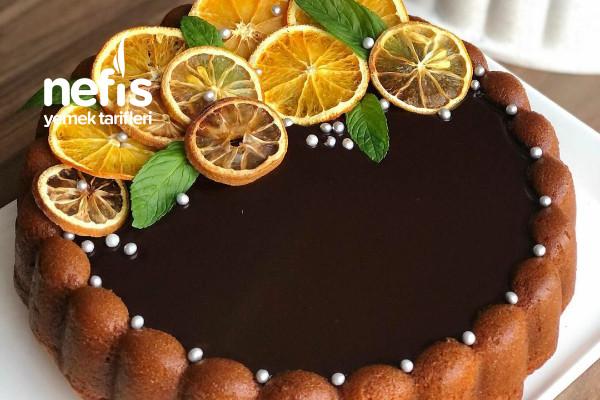 Çikolata Ganajli Portakallı Tart Kek