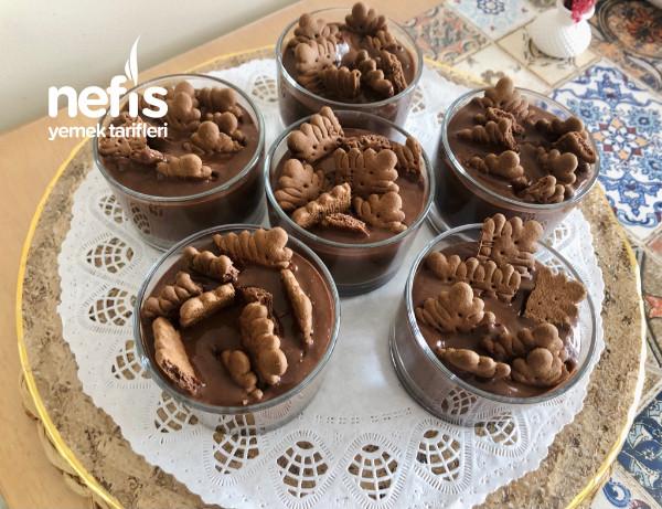 Ev Yapımı Çikolatalı Puding (Tam Kıvamında)