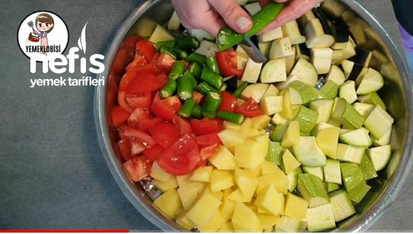 Fırında Sebzeli Etli Kebap