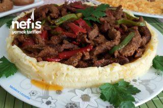 Patates Püreli Et Fajita (Muhteşem Soslu Sote) Tarifi