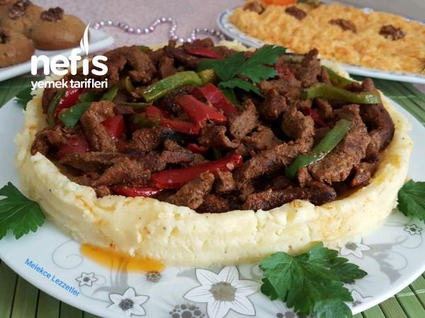 Patates Püreli Et Fajita (Muhteşem Soslu Sote)