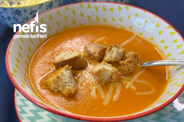 Pirinçli Sütlü Domates Çorbası