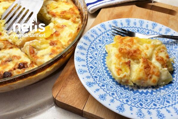 Fırında Kremalı Patates/ Nefis Patates Graten Tarifi (Videolu)