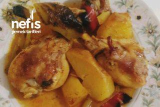 Fırında Sebzeli Tavuk Baget Lezzeti Sosunda Tarifi
