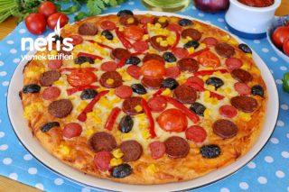 Mayasız Hamurdan Pizza Tarifi
