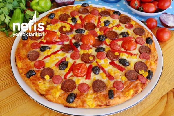 Mayasız Hamurdan Pizza