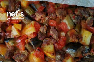 Fırında Etli Patlıcan Yemeği Tarifi