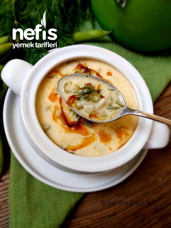 Taze Bakla Çorbası (Yoğurtlu)