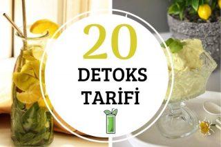 Detoks Tarifler: Sağlıklı 20 Çeşit Tarifi