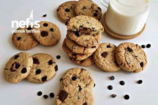 Çikolata Parçacıklı Kurabiye (Cookie) Tarifi