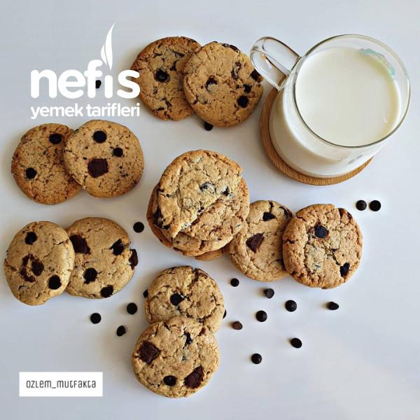 Çikolata Parçacıklı Kurabiye (Cookie)